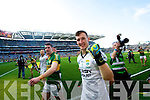 Paul Geaney and Brian Kelly. Kerry players celebrate their victory over Donegal in the All Ireland Senior Football Final in Croke Park Dublin on Sunday 21st September 2014.