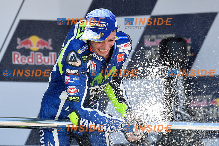 Jerez de la Frontera (Spain) 24/04/2016 - Moto Gp Race / Photo Luca Gambuti/Image Sport/Insidefoto<br /> Valentino Rossi Winner