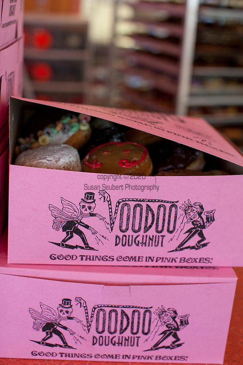 "Voodoo Doughnut, Too! located in NE Portland, Oregon features unusual doughnuts and is owned by Tres Shannon and Kenneth ""Cat Daddy"" Pogson."