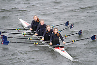 Crew: 280  Oundle Sch  Event: Girls J16 Quads<br /> <br /> Schools' Head of the River 2017<br /> <br /> To purchase this photo, or to see pricing information for Prints and Downloads, click the blue 'Add to Cart' button at the top-right of the page.