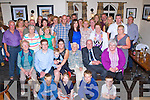 Nellie Dinneen, Ballymakeera, Millstreet seated centre who celebrated her 80th birthday with her family and friends in the Kerry Way bar, Glenflesk on Saturday night