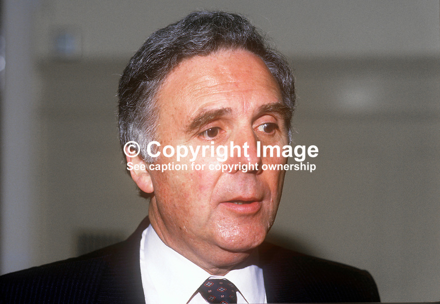 Alex Fletcher, Conservative Party, UK, MP &amp; junior Minister, May, 1986, 19860506AF<br /> <br /> Copyright Image from Victor Patterson, 54 Dorchester Park, <br /> Belfast, UK, BT9 6RJ<br /> <br /> t1: +44 28 9066 1296 (from Rep of Ireland 048 9066 1296)<br /> t2: +44 28 9002 2446 (from Rep of Ireland 048 9002 2446)<br /> m: +44 7802 353836<br /> <br /> e1: victorpatterson@me.com<br /> e2: victorpatterson@gmail.com<br /> <br /> www.victorpatterson.com<br /> <br /> Please see my Terms and Conditions of Use at VICTORPATTERSON.COM. It is IMPORTANT that you familiarise yourself with them.<br /> <br /> Images used on the Internet must be visibly watermarked i.e. &copy;VICTORPATTERSON.COM within the body of the image and copyright metadata must not be deleted. Images used on the Internet have a size restriction of 4kbs and are chargeable at the then current NUJ rates.<br /> <br /> This image is only available for the use of the download recipient i.e. television station, newspaper, magazine, book publisher, etc, and must not be passed on to any third party. It is also downloaded on condition that each and every usage is notified within 7 days to victorpatterson@me.com<br /> <br /> The right of Victor Patterson to be identified as the author is asserted in accordance with The Copyright Designs And Patents Act (1988).