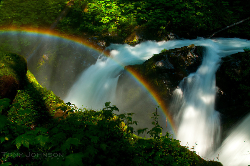 Sol Duc Falls and Rainbow