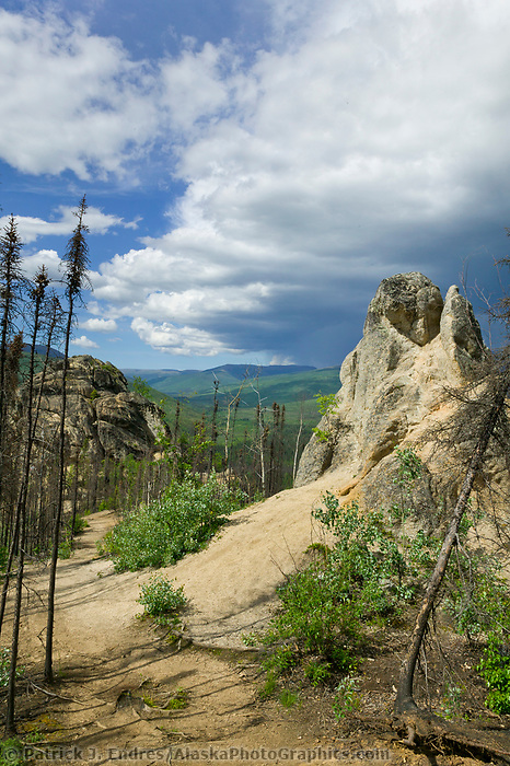 Angel Rocks trail, off Chena Hot Springs road, about 1 hour from Fairbanks.