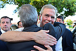 SWEETWATER, FL - MAY 18: Former Florida Governor and potential Republican presidential candidate Jeb Bush greets people and pose for picture as he leaving the fundraising event at the Jorge Mas Canosa Youth Center on May 18, 2015 in Sweetwater, Florida. Mr. Bush is thought to be seeking to run for the Republican nomination but he has yet to formally announce his intentions.  ( Photo by Johnny Louis / jlnphotography.com )