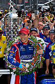 Verizon IndyCar Series<br /> Indianapolis 500 Race<br /> Indianapolis Motor Speedway, Indianapolis, IN USA<br /> Sunday 28 May 2017<br /> Takuma Sato, Andretti Autosport Honda celebrates the win in Victory Lane<br /> World Copyright: Scott R LePage<br /> LAT Images<br /> ref: Digital Image lepage-170528-indy-10571<br /> ref: Digital Image lepage-170528-indy-10599