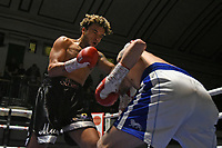 Harley Benn (black shorts) defeats Dylan Draper during a Boxing Show at York Hall on 15th February 2020