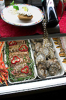 Food display at fine dining Salt Rock Grill which overlooks The Narrows of the Gulf Intercoastal Waterway.  Indian Shores Tampa Bay Area Florida USA