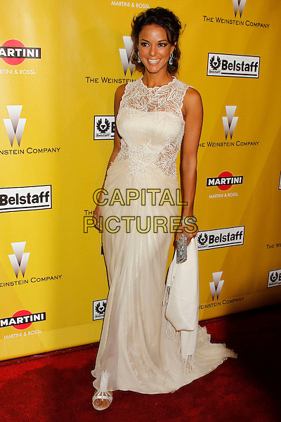 EVA LaRUE.Weinstein Company Post Golden Globe Party held at Bar210 & Plush Ultra Lounge at the Beverly Hilton Hotel, Beverly Hills, California, USA..January 17th, 2009.globes full length white cream beige sleeveless dress dress maxi rue pattern.CAP/ADM/MJ.©Michael Jade/Admedia/Capital Pictures