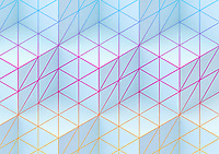 Full frame geometric abstract cube pattern