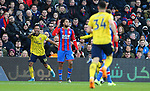 Arsenal's Pierre-Emerick Aubameyang celebrates after scoring the opening goal during the Premier League match at Selhurst Park, London. Picture date: 11th January 2020. Picture credit should read: Paul Terry/Sportimage