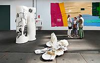 Nederland - Zaandam- 2019.   BIG ART op het Hembrugterrein. Het Hembrugterrein was als hart van de Nederlandse militaire industrie lange tijd afgesloten gebied, maar bruist nu van ondernemerschap en creativiteit. Tijdens BIG ART Hembrug 2019 worden tientallen XL-kunstwerken getoond.      Foto mag niet in negatieve context worden gepubliceerd.    Foto Berlinda van Dam / Hollandse Hoogte