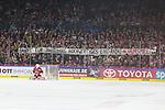 09.04.2019, Lanxessarena, Köln, GER, DEL Playoffs, Kölner Haie - Adler Mannheim, im Bild<br /> Plakat für das Haimspiel Radio. <br /> <br /> Foto © nordphoto / Mueller