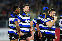 Elliott Stooke of Bath Rugby looks on. Anglo-Welsh Cup match, between Bath Rugby and Leicester Tigers on November 4, 2016 at the Recreation Ground in Bath, England. Photo by: Patrick Khachfe / Onside Images