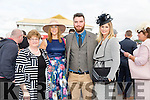 Enjoying Ladies Day at the Listowel Races on Friday were: Eileen O'Connor, Michelle Parkinson, Simon Parkinson, Carol Wolfe from Listowel and Abbeyfeale