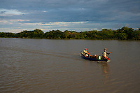 Crossing the Tonle Sap Lake Cambodia