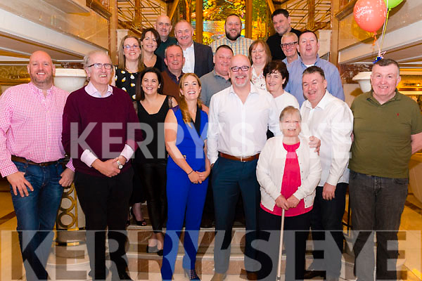 Tony Keenan from Ballyfinnane celebrated his 50th birthday surrounded by friends and family in the Plaza Hotel, Killarney last Saturday night.