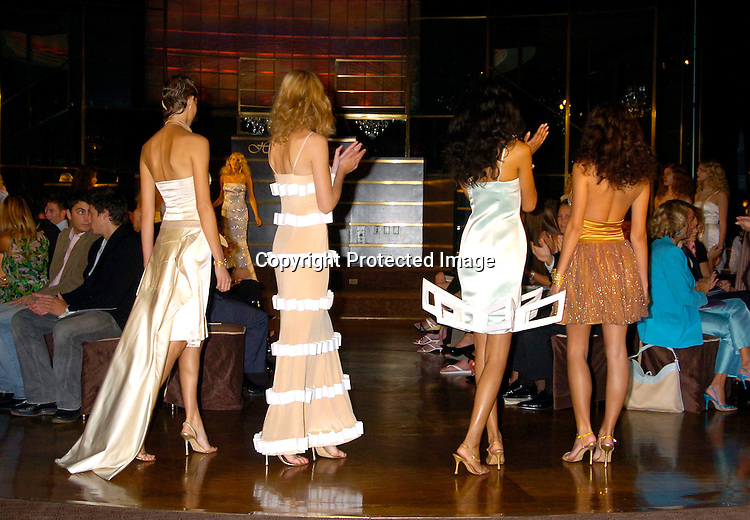Models..at the Holly Kristen Spring 2005 Fashion Show on ..September 14, 2004 at the Rainbow Room . ..Photo by Robin Platzer, Twin Images
