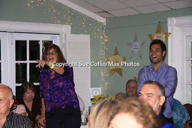 """General Hospital's Erik Valdez """"Trey"""" question from a teadhat SoapFest's Celebrity Weekend -  A Night of Stars - a VIP event with dinner, autographs, photos, silent and live auction on November 10, 2012 at Bistro Soleil at Old Historic Marco Inn (Photo by Sue Coflin/Max Photos)"""