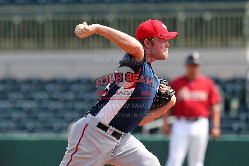 Washington Nationals pitcher Paul Demny #43 during an Instructional League game against the Houston Astros at Osceola County Stadium on September 26, 2011 in Kissimmee, Florida.  (Mike Janes/Four Seam Images)