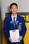 Table Tennis Boys winner Lingman Kong from Saint Kentigern College.  ASB College Sport Young Sportsperson of the Year Awards held at Eden Park, Auckland, on November 11th 2010.