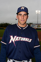 Jeff Bianchi (6) of the Northwest Arkansas Naturals prior to a game against the Springfield Cardinals on May 13, 2011 at Hammons Field in Springfield, Missouri.  Photo By David Welker/Four Seam Images.