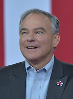 MIAMI, FL - JULY 23: Democratic candidate for Vice President, U.S. Senator Tim Kaine (D-VA) speak during a campaign rally with Florida voters at the Florida International University Panther Arena, Florida on Friday, July 23, 2016. With two days to go until the Democratic National Convention, Hillary Clinton is campaigning in Florida.  Credit: MPI10 / MediaPunch