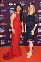 Alex Scott &amp; Kelly Smith at the BT Sport Industry Awards 2017 at Battersea Evolution, London, UK. <br /> 27 April  2017<br /> Picture: Steve Vas/Featureflash/SilverHub 0208 004 5359 sales@silverhubmedia.com
