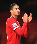 Chris Smalling of Manchester United applauds the crowd following his two goals - Manchester United vs. Burnley - Barclay's Premier League - Old Trafford - Manchester - 11/02/2015 Pic Philip Oldham/Sportimage