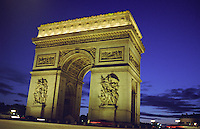 Arc de triomphe Paris, nuit Arch of Triumph, Paris, Night