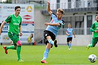 RODINGHAUSEN, Voetbal, Rodinghausen - FC Groningen, voorbereiding  seizoen 2017-2018, 15-07-2017, uithaal van FC Groningen speler Robbert de Vos