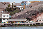 A fishing village on a small island in the Sea of Cortez