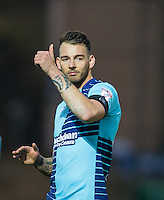Max Muller of Wycombe Wanderers gives a thumb up to supporters after the Sky Bet League 2 match between Wycombe Wanderers and Crawley Town at Adams Park, High Wycombe, England on 25 February 2017. Photo by Andy Rowland / PRiME Media Images.