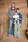 Families gather after Christmas at the Cuneo Ranch in California's Mother Lode. Bobbie and Rhonda with their newborn daughter.