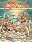 Dona Gelsinger, LANDSCAPES, LANDSCHAFTEN, PAISAJES, paintings+++++,USGE1555A,#L# #161# bicycle