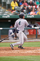 Cedar Rapids Kernels Andrew Bechtold (4) at bat during a Midwest League game against the South Bend Cubs at Four Winds Field on May 8, 2019 in South Bend, Indiana. South Bend defeated Cedar Rapids 2-1. (Zachary Lucy/Four Seam Images)