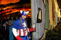 Captain America at the MOM's Ball in 2006 during the first Mardi Gras in New Orleans since Hurricane Katrina.