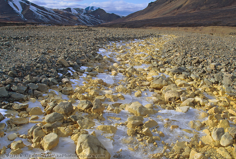 Mineral deposits along Stony Creek, Denali National Park, Alaska