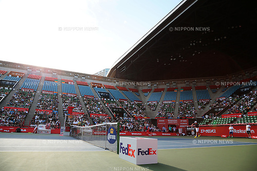 General view, <br /> OCTOBER 3, 2015 - Tennis : <br /> Training of <br /> Rakuten Japan Open Tennis Championships 2015 <br /> at Ariake Coliseum, Tokyo, Japan. <br /> (Photo by AFLO SPORT)