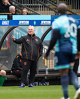 manager of Mansfield Town Steve Evans during the Sky Bet League 2 match between Wycombe Wanderers and Mansfield Town at Adams Park, High Wycombe, England on the 14th April 2017. Photo by Liam McAvoy.