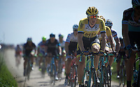 Sep Vanmarcke (BEL/LottoNL-Jumbo) on sector 26: Viesly &agrave; Qui&eacute;vy (1.8km)<br /> <br /> 113th Paris-Roubaix 2015