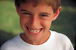 portrait of smiling young boy