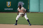 May 23, 2014; Stockton, CA, USA; Pepperdine Waves infielder Manny Jefferson (5) during the WCC Baseball Championship at Banner Island Ballpark.
