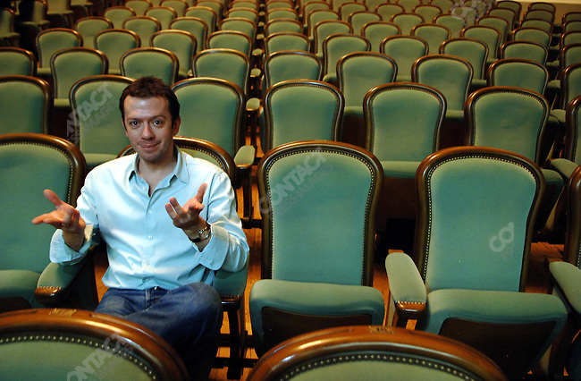 Alexei Ratmansky, the artistic director of the Bolshoi Theatre ballet, seated in the stalls of the New Stage of the Bolshoi Theatre, Moscow, Russia, January 21, 2007