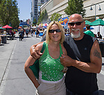 Alison and David during the Great Eldorado BBQ, Brews and Blues Festival in Reno, Nevada on Saturday, June 16, 2018.
