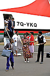 Deplaning At Mzuzu Airport