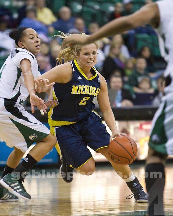 The University of Michigan women's basketball team fell to Eastern Michigan University 77-64 at the Convocation Center in Ypsilanti, Mich., on December 11, 2011.