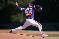 Craig Gullickson (35) of the Clemson Tigers in action versus the Wake Forest Demon Deacons during the second game of a double header at Gene Hooks Stadium in Winston-Salem, NC, Sunday, March 9, 2008.