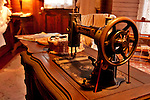 A sewing machine in the House of the Seven Gables at Heritage Village in Florida, a living museum park made up of 21 acres with historical buildings from around Florida that were built in the 19th century