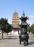 Giant Wild Goose Pagoda - Buddhist pagoda in Xian, China. c 652 AD